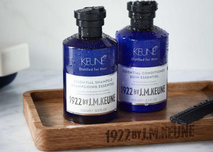 page hero 1920x1420 medium-Keune-1922-Essential-shampoo-Conditioner-Group-Lifestyle-API1